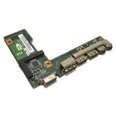 Плата портов USB, Audio, HDMI для Asus A52, K52, X52, б/у