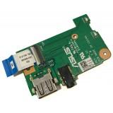 Плата аудио и USB для Asus X553M, б/у