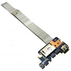 Плата USB и картридер для HP 15-BS, 15-BW, 250 G6, 255 G6, б/у