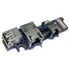 Плата USB и LAN для Dell D620, D630, б/у