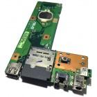 Плата питания, LAN, USB, картридер для Asus A52D, K52F, K52N, X52F, X52J, б/у