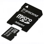 Карта памяти microSDHC Transcend TS16GUSDHC10 + переходник на SD, класс 10, 16 Гб